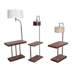 Machine Age Art Deco Side/Lamp Tables, Manner of Walter Von Nessen  Middle SOLD