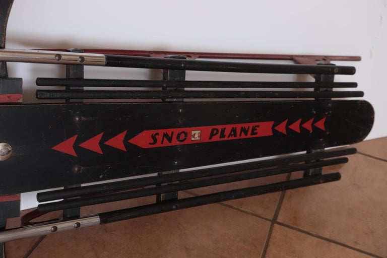 Machine Age Art Deco Skippy Sno - Plane Sled, Van Doren & Rideout Patented 1934 For Sale 5