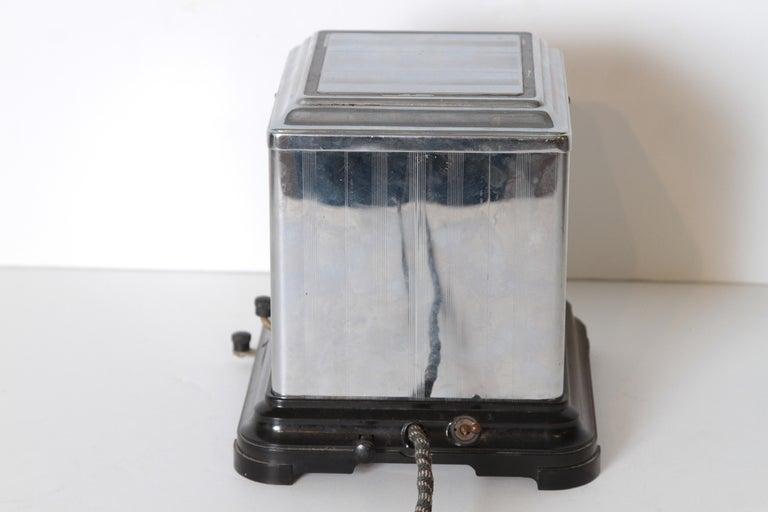 Machine Age Art Deco Skyscraper Belle Kogan Toaster, Chrome and Bakelite, Rare For Sale 6