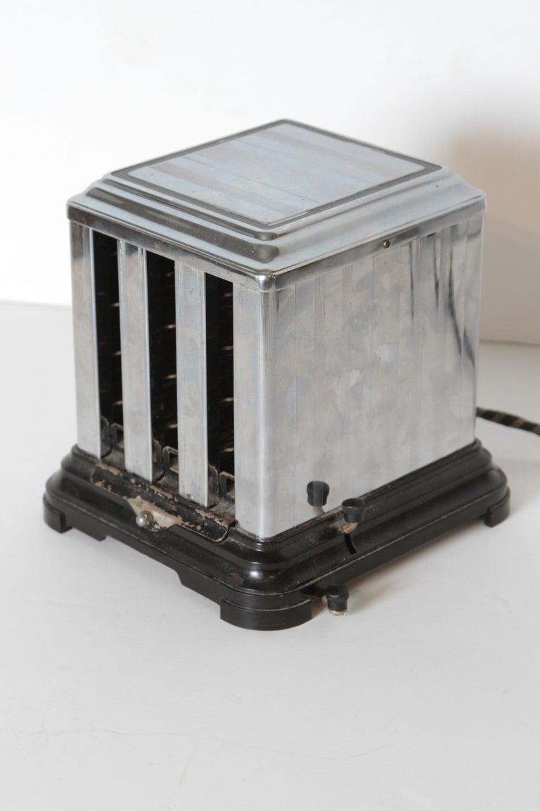 Machine Age Art Deco Skyscraper Belle Kogan Toaster, Chrome and Bakelite, Rare For Sale 7