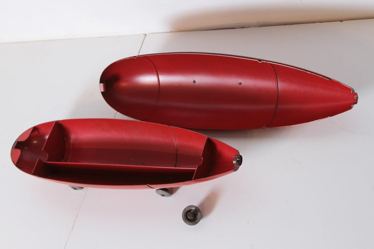 Machine Age Art Deco Streamline Blackhawk Tool Box, Zeppelin, Torpedo, Bomb 6