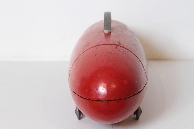 American Machine Age Art Deco Streamline Blackhawk Tool Box, Zeppelin, Torpedo, Bomb