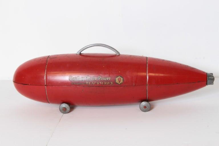 Machine Age Art Deco Streamline Blackhawk Tool Box, Zeppelin, Torpedo, Bomb In Good Condition In Dallas, TX