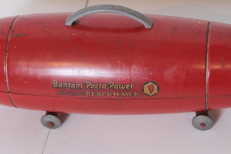 Mid-20th Century Machine Age Art Deco Streamline Blackhawk Tool Box, Zeppelin, Torpedo, Bomb