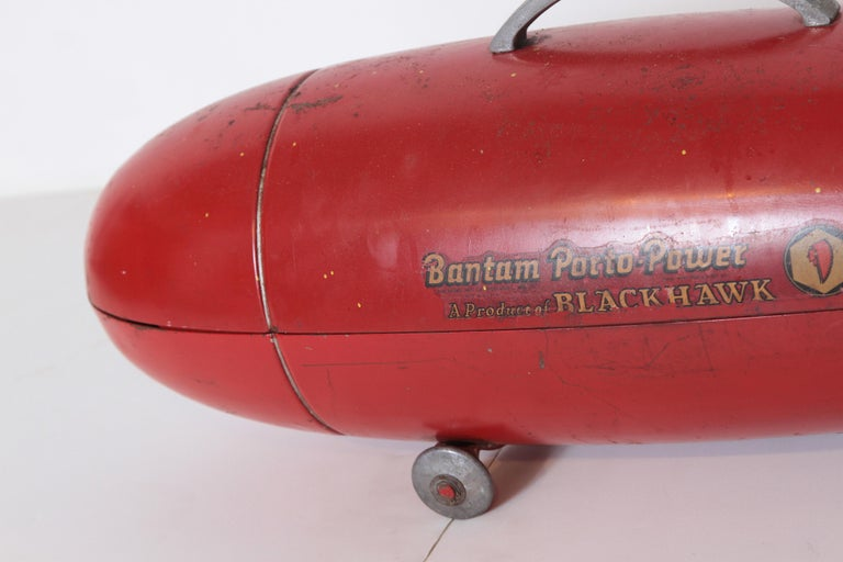 Machine Age Art Deco Streamline Blackhawk Tool Box, Zeppelin, Torpedo, Bomb 1