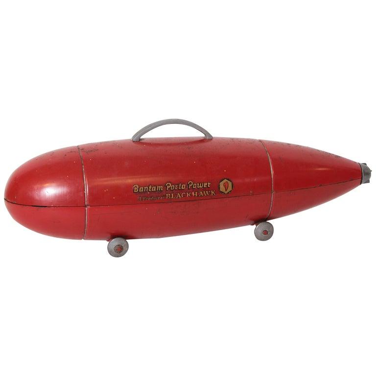Machine Age Art Deco Streamline Blackhawk Tool Box, Zeppelin, Torpedo, Bomb