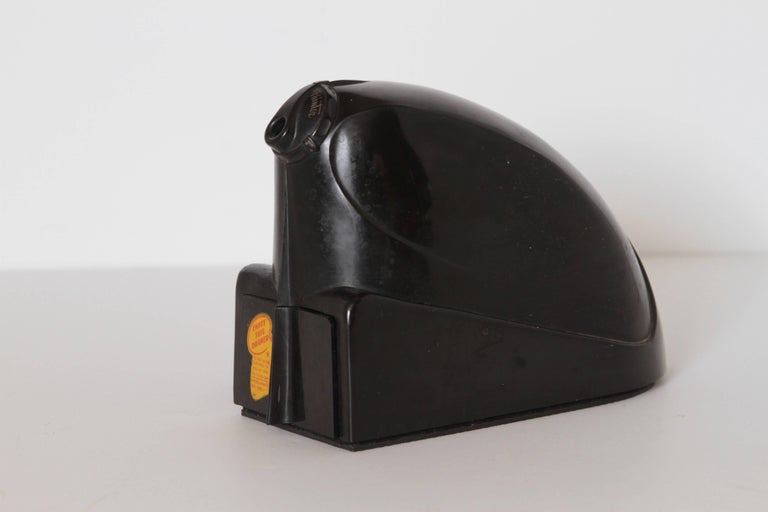 Machine Age Art Deco Streamline electro pointer bakelite electric pencil sharpener. Industrial design.