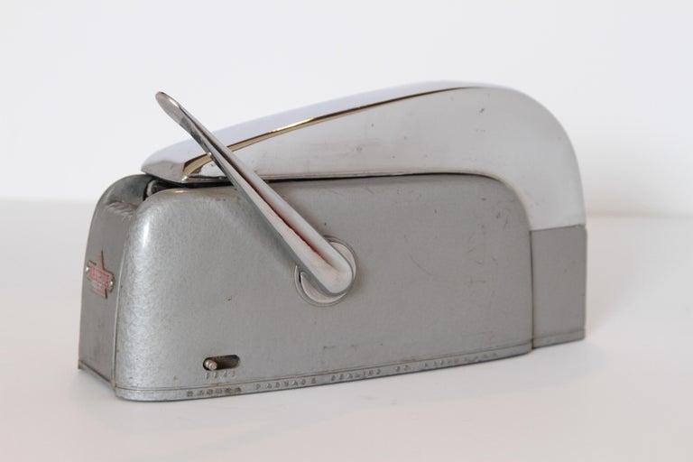 Enameled Machine Age Art Deco Streamline Industrial Design Nashua Tape Dispenser Arens For Sale
