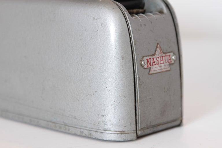 Machine Age Art Deco Streamline Industrial Design Nashua Tape Dispenser Arens In Good Condition For Sale In Dallas, TX