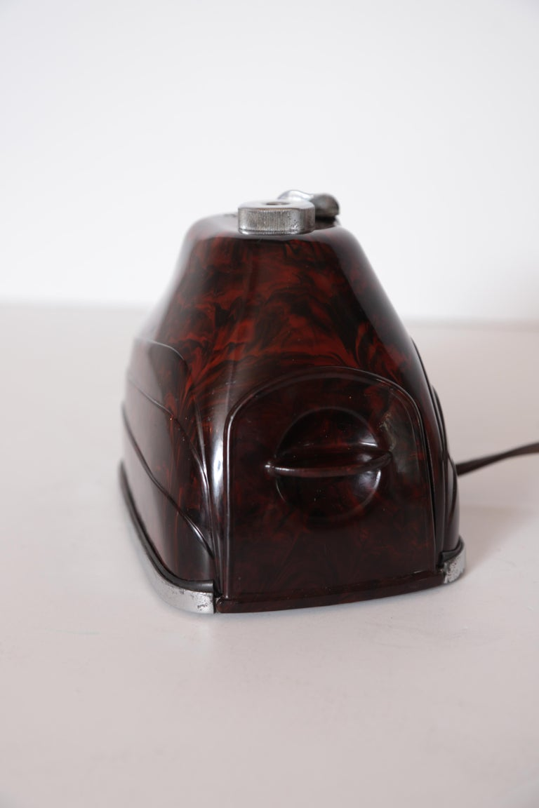 Machine Age Art Deco Streamline Morris Bakelite Electric Pencil Sharpener For Sale 7