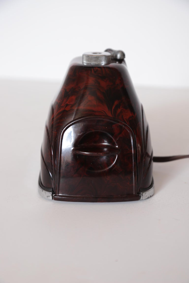Machine Age Art Deco Streamline Morris Bakelite Electric Pencil Sharpener For Sale 8