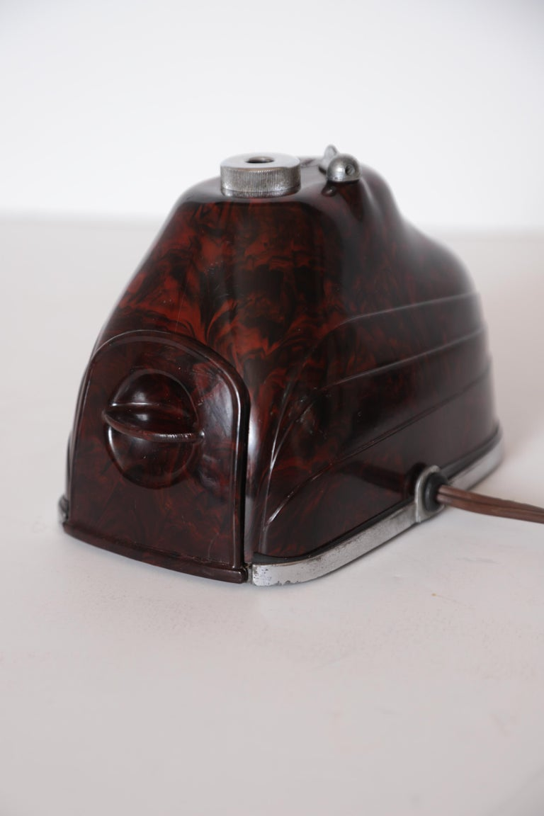 Mid-20th Century Machine Age Art Deco Streamline Morris Bakelite Electric Pencil Sharpener For Sale