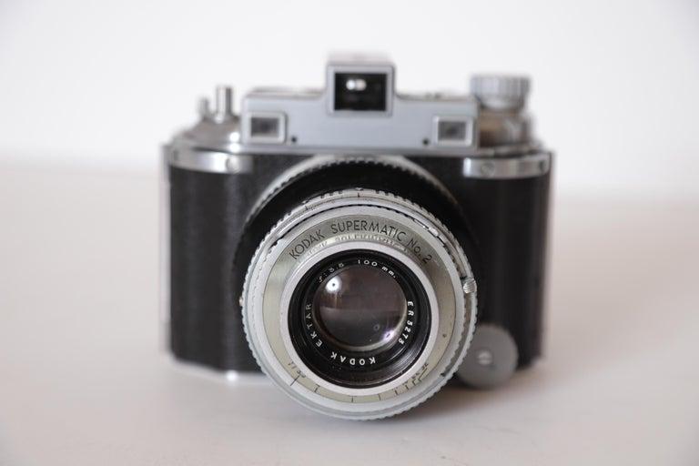 Machine Age Art Deco Walter Dorwin Teague Kodak Medalist Camera with Case For Sale 7