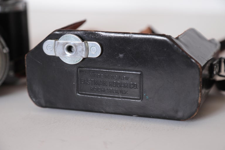 Machine Age Art Deco Walter Dorwin Teague Kodak Medalist Camera with Case For Sale 8