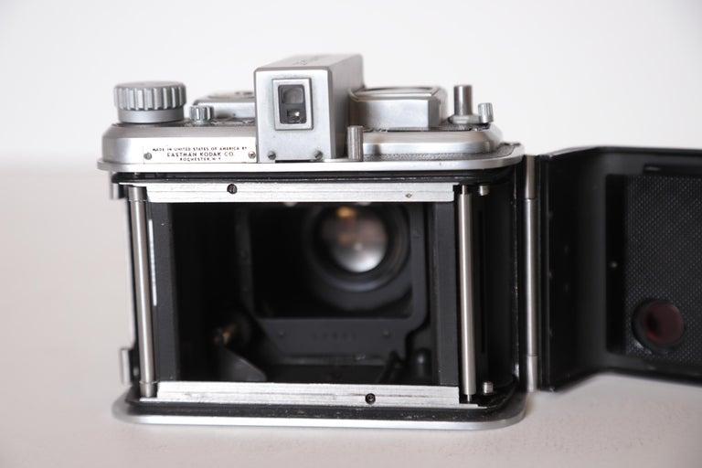 Machine Age Art Deco Walter Dorwin Teague Kodak Medalist Camera with Case For Sale 11