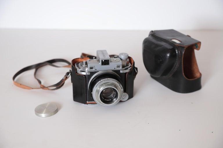 American Machine Age Art Deco Walter Dorwin Teague Kodak Medalist Camera with Case For Sale