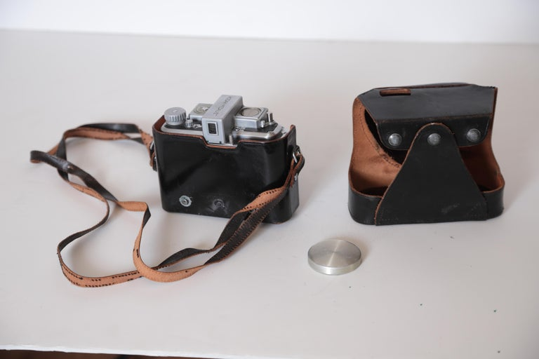 Mid-20th Century Machine Age Art Deco Walter Dorwin Teague Kodak Medalist Camera with Case For Sale