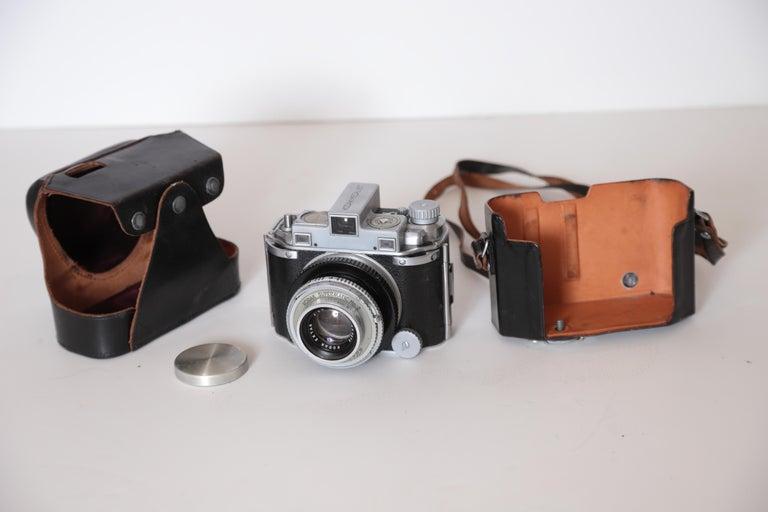 Metal Machine Age Art Deco Walter Dorwin Teague Kodak Medalist Camera with Case For Sale
