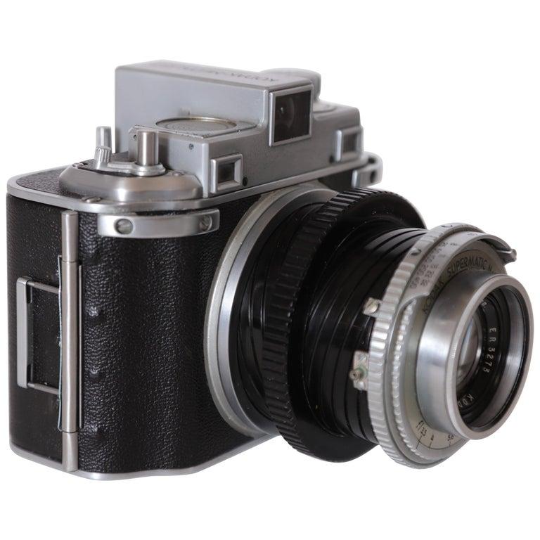 Machine Age Art Deco Walter Dorwin Teague Kodak Medalist Camera with Case For Sale