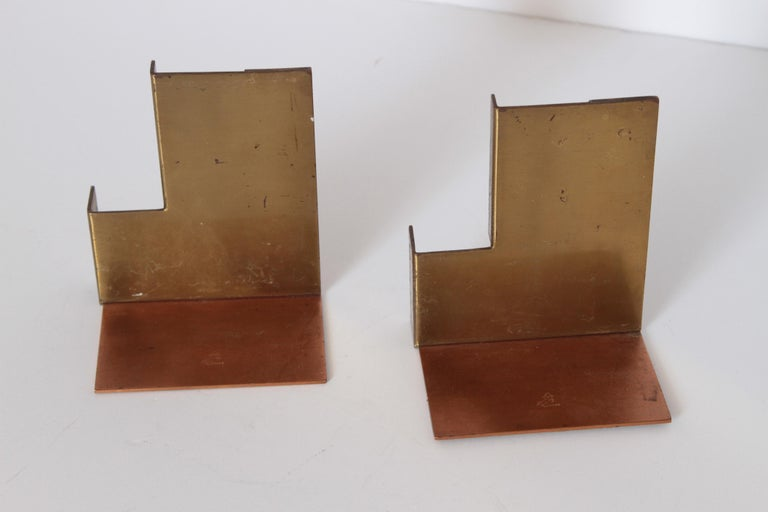 Machine Age Art Deco Walter Von Nessen for Chase Moderne Bookends For Sale 1