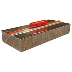 Machine Age Art Deco Wood Lined Lidded Box by Chase & Co.