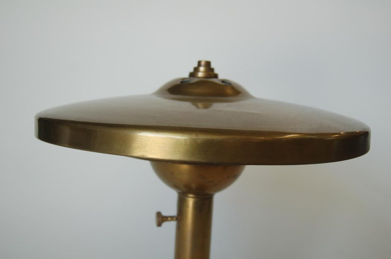 Mid-20th Century Machine Age Brass And Aluminum Desk Lamp For Sale