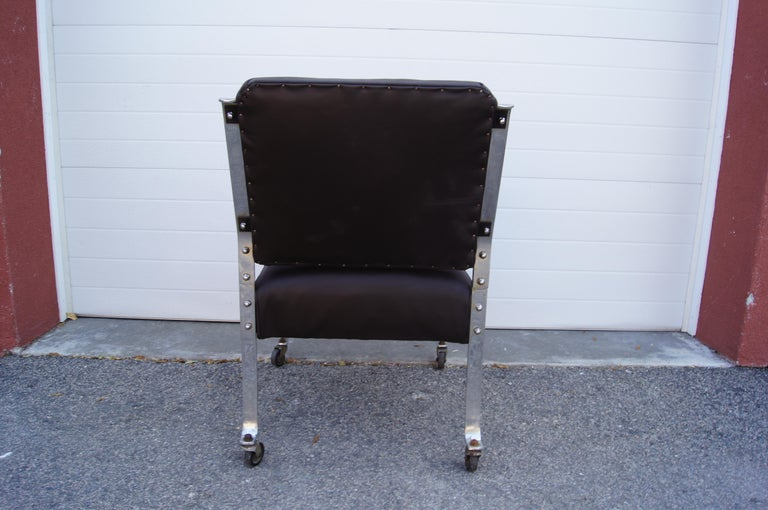 Chrome and Leather Armchair by McKay Furniture Company For Sale 1