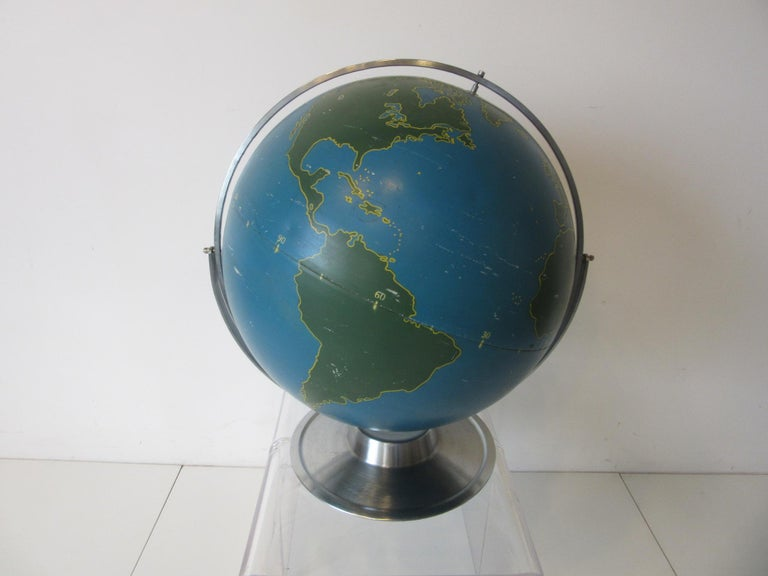 Machine Age Industrial Globe by A.J. Nystrom For Sale 5