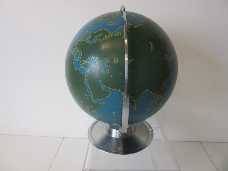 American Machine Age Industrial Globe by A.J. Nystrom For Sale