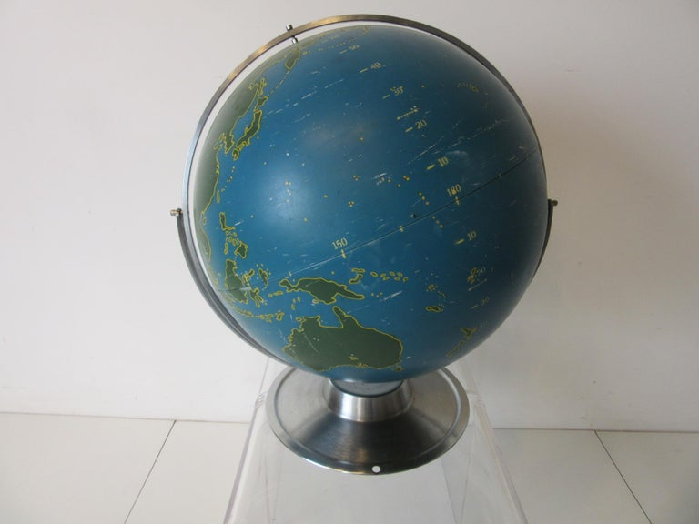 Machine Age Industrial Globe by A.J. Nystrom In Good Condition For Sale In Cincinnati, OH
