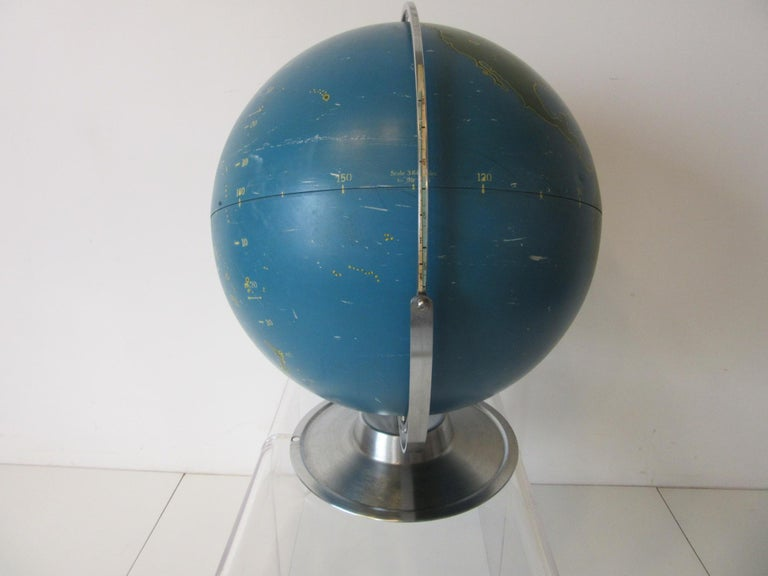 20th Century Machine Age Industrial Globe by A.J. Nystrom For Sale