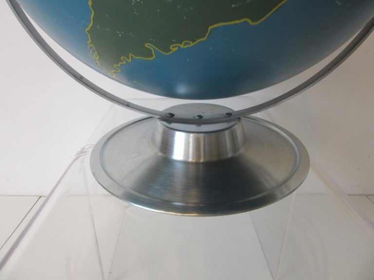 Machine Age Industrial Globe by A.J. Nystrom For Sale 2