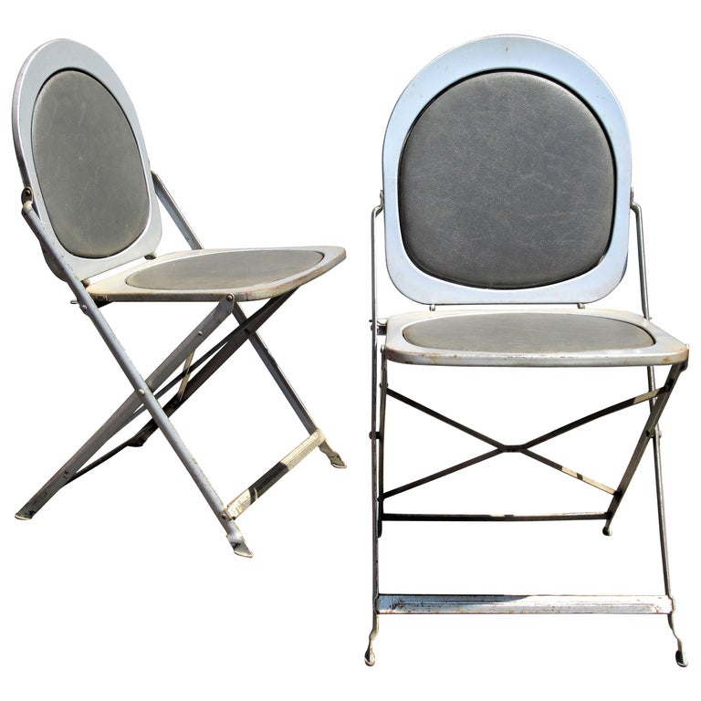 Awe Inspiring Machine Age Steel Folding Chairs Caraccident5 Cool Chair Designs And Ideas Caraccident5Info