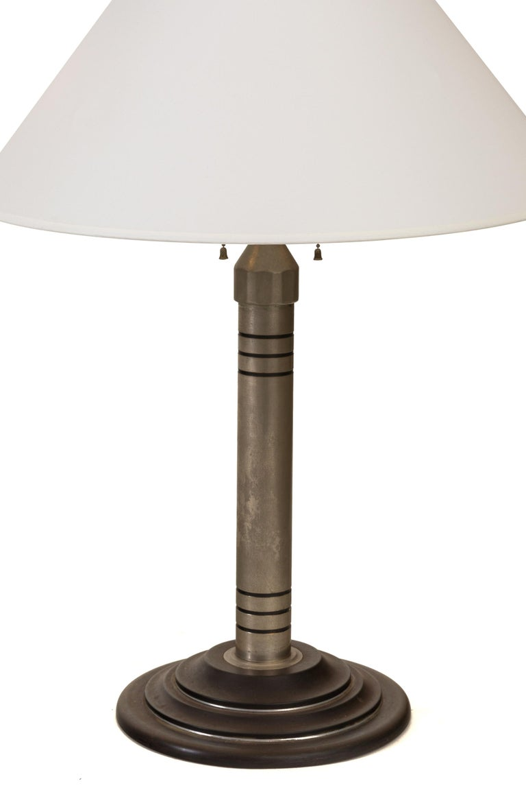 American Machine Age Table Lamp, USA 1930s For Sale