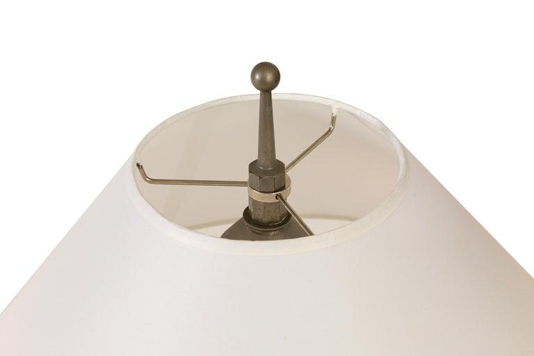 Aluminum Machine Age Table Lamp, USA 1930s For Sale