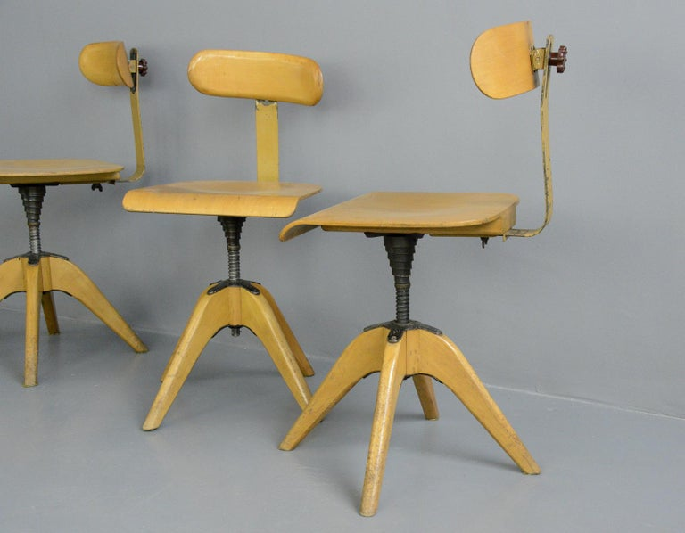 Machinists Chairs by Bombenstabil, circa 1930s For Sale 3