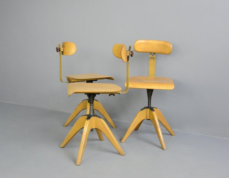 Bauhaus Machinists Chairs by Bombenstabil, circa 1930s For Sale