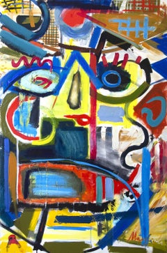 Between Dream and Archetype woman in the hat color, Painting, Oil on Canvas