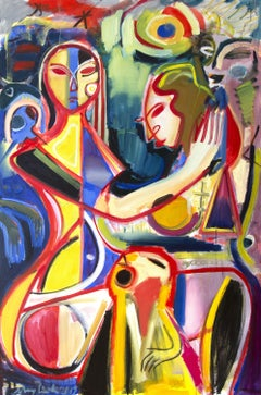 IItaly inspirations, semi- abstract oil painting, Painting, Oil on Canvas