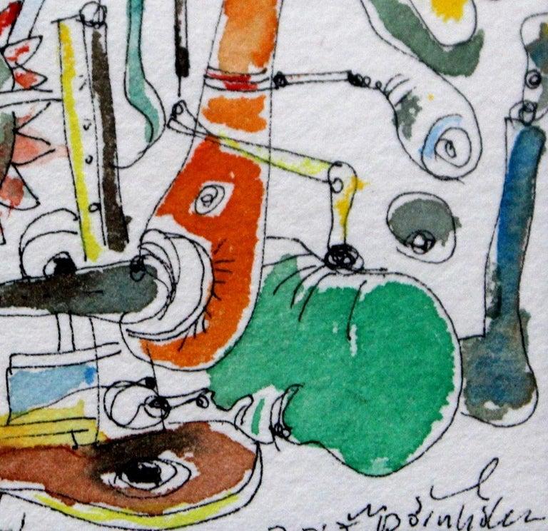 Composition (Watercolour) -  Contemporary surrealist artist, Abstraction - Painting by Maciej Świeszewski