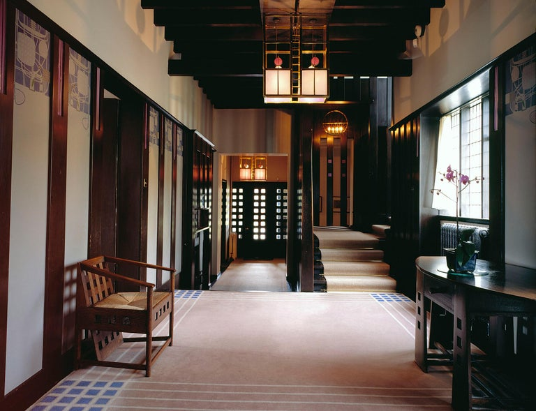 Chales Rennie Mackintosh Cassina Silk Velvet 292 Hill House 1 Chair Italy 1960s 4