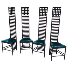 Mackintosh for Cassini Set of 4 Model 292 Hill House Chairs