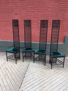 Mackintosh  for Cassini set of 4 model292 Hill House chairs