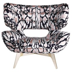 Maclaine Armchair in Fabric by Roberto Cavalli Home Interiors