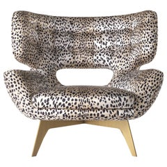 Maclaine Armchair in Print Fabric by Roberto Cavalli Home Interiors