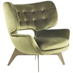Maclaine Armchair in Velvet by Roberto Cavalli Home Interiors