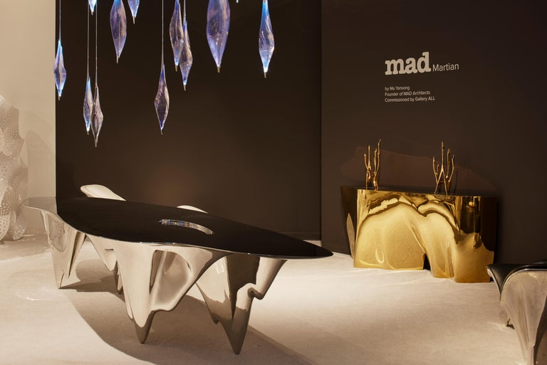 MAD Martian Long Dining Table Polished Stainless Steel by MAD Architects  For Sale 1