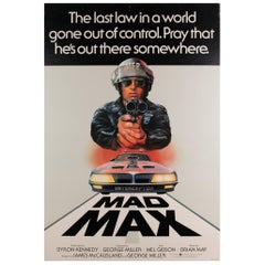 """Mad Max"", 1979 UK 1 Sheet Film Poster"