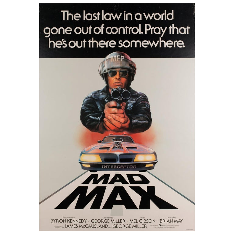 """Mad Max"", 1979 UK 1 Sheet Film Poster For Sale"