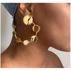 Made by Malyia 14 Karat Gold Vermeil Revolution Hoop